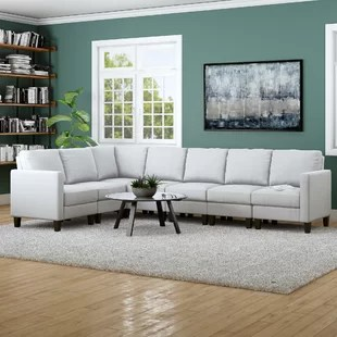 cloud track arm leather two seat cushion sofa blue grey cushions modular sectional wayfair quickview