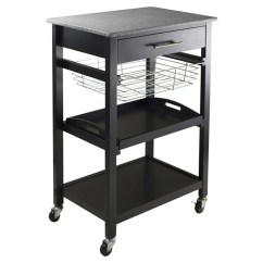 Granite Top Kitchen Cart Supplies Winsome Julia With Reviews Wayfair Ca