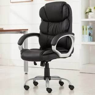 office chair leather white modern chairs you ll love wayfair quickview