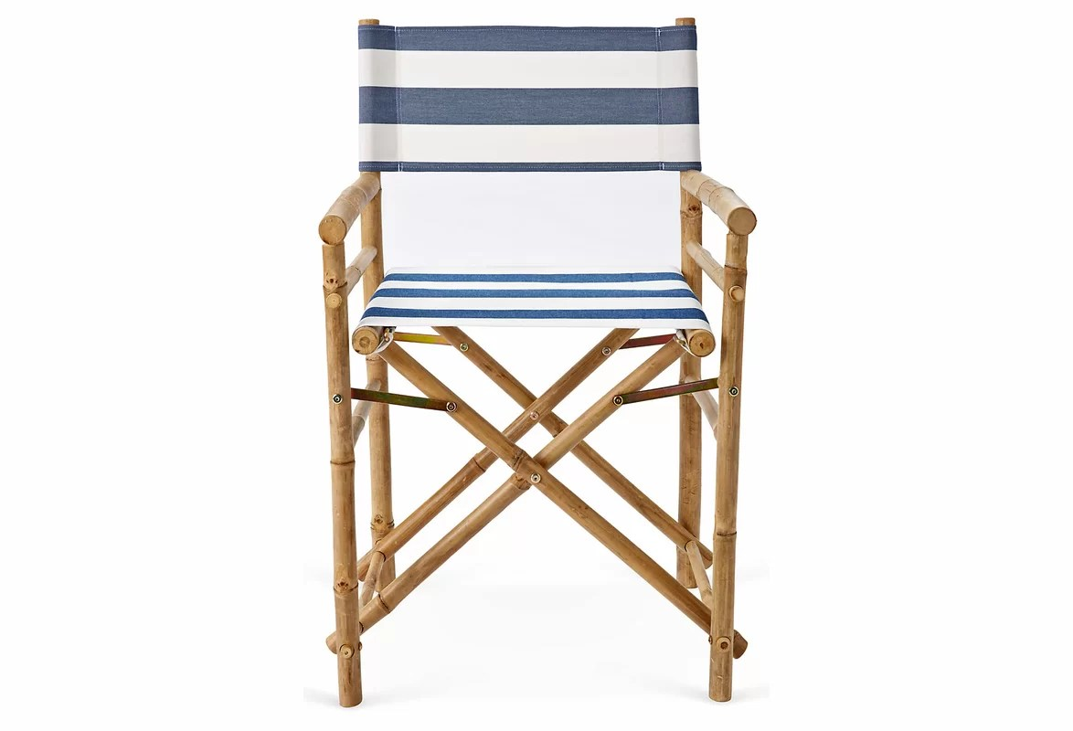 bamboo directors chairs off white chair zew hand crafted outdoor indoor director