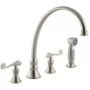 four hole kitchen faucets sinks kohler 4 faucet wayfair quickview