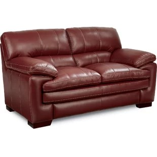 leather red sofa distinctly home martini 78 sofas you ll love wayfair quickview chocolate