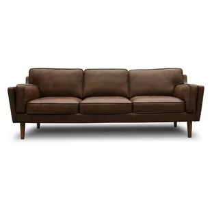 modern brown leather sofa 100 polyester sofas couches allmodern quickview