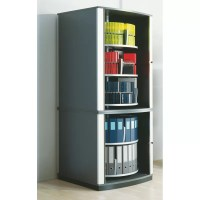 "Moll Lockfile Binder and File Carousel Cabinet 85"" H Five"
