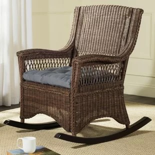 wicker rocking chair covers on amazon chairs you ll love wayfair quickview