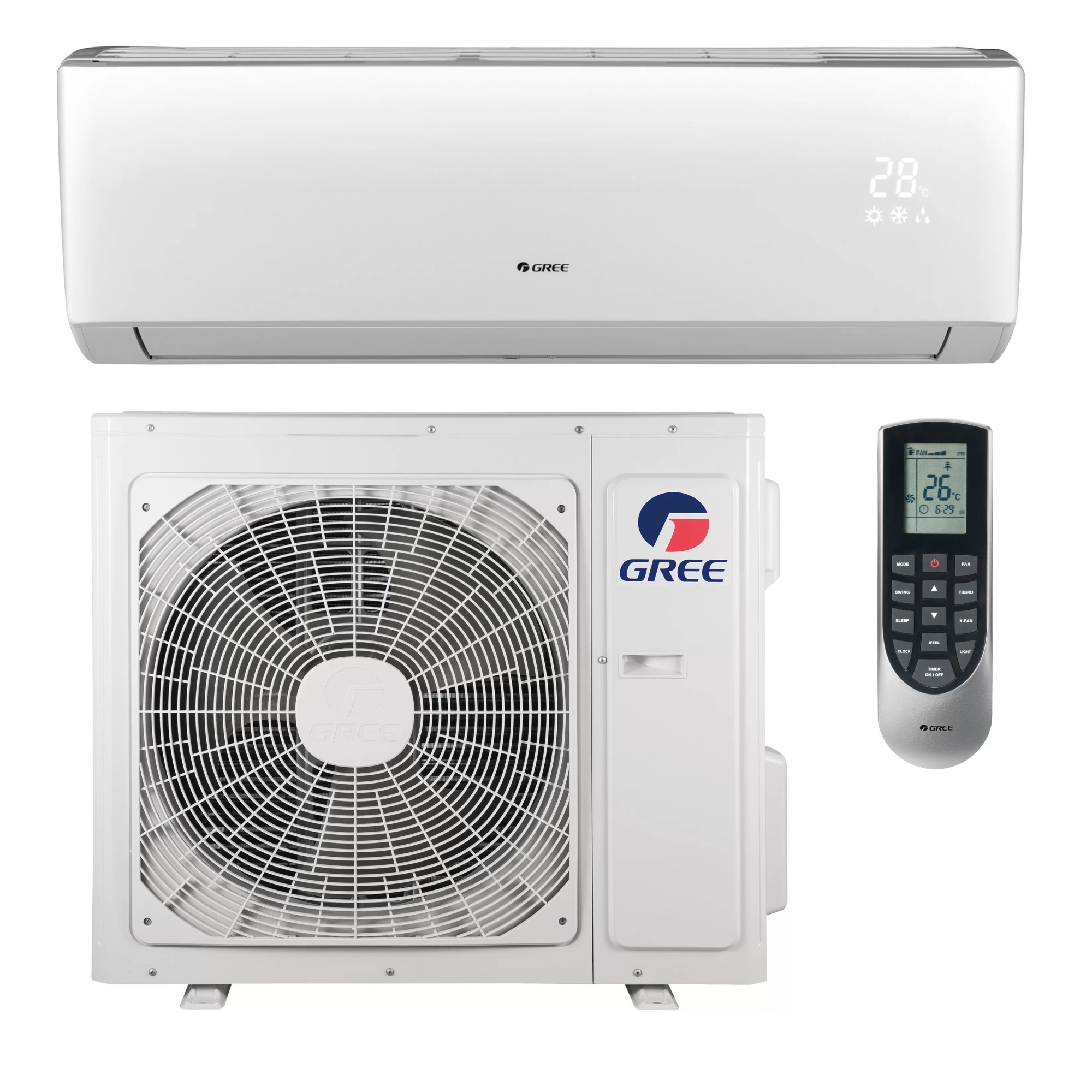 hight resolution of gree livo 22 000 btu ductless mini split air conditioner with heater and remote wayfair ca