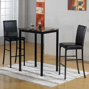 pub kitchen table home depot storage cabinets tables bistro sets you ll love wayfair ca 3 piece set