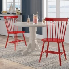 Kitchen Chairs Wood Ergonomic Industrial Red Dining You Ll Love Wayfair Quickview