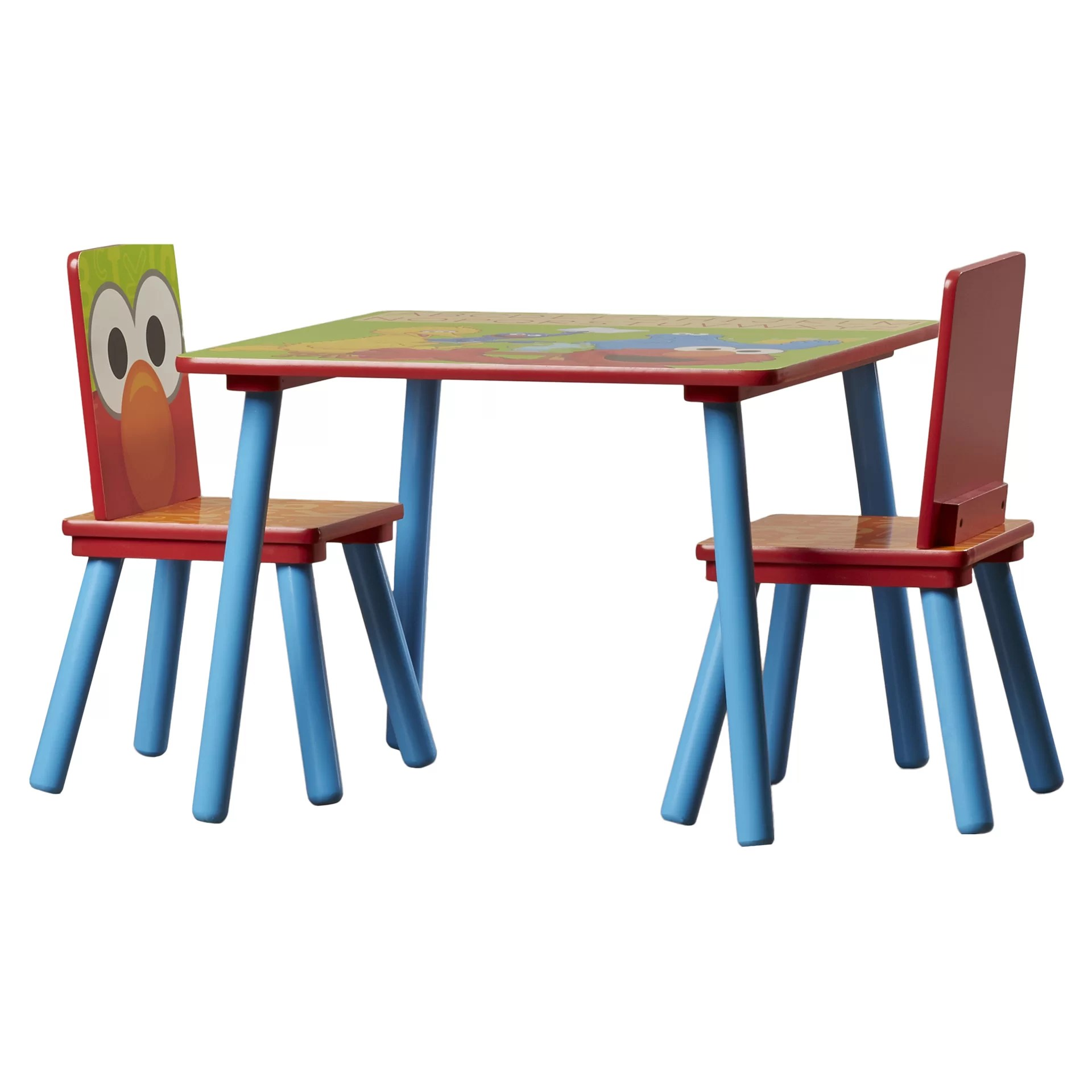 sesame street table and chairs ikea snille chair delta children kids 39 3 piece