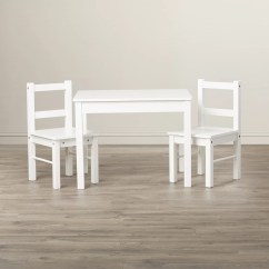 3 Piece Table And Chair Set Ladder Back Suri Kids 39 Rectangle Reviews