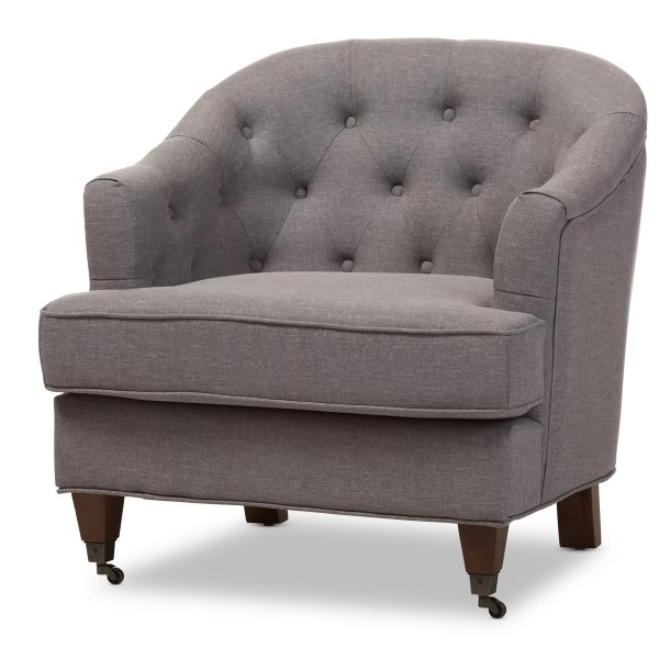 Interiors Baxton Studio Marta Upholstered Barrel