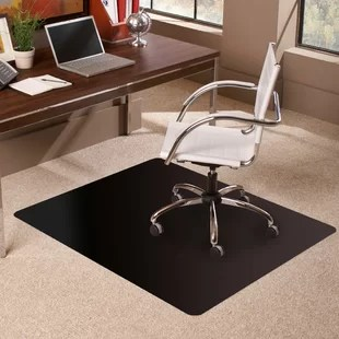 desk chair mat for carpet hans wegner style mats you ll love wayfair trendsetter rectangle low pile straight edge