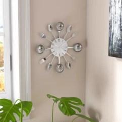 Rustic Kitchen Clock Vinyl Flooring Wayfair Bradly 15 Round Metal Wall