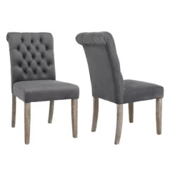 High Back Tufted Chair Club Slip Covers Dining Wayfair Kamron Upholstered Set Of 2
