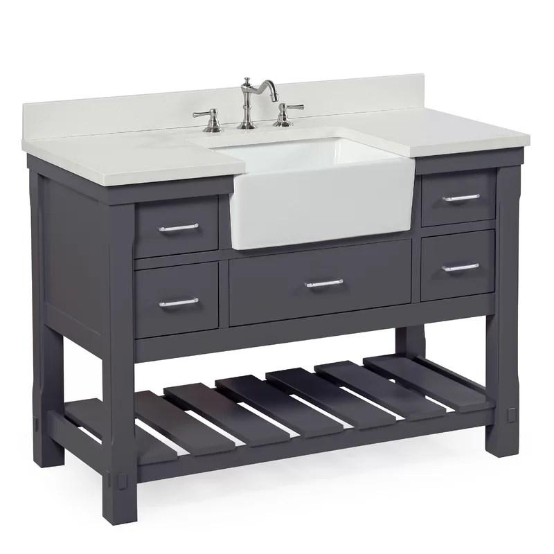KBC Charlotte 48 Single Bathroom Vanity Set  Wayfairca
