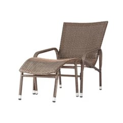 Lounge Outdoor Chairs Chair Cover Hire Tyne And Wear Modern Allmodern Harmony With Ottoman