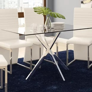 kitchen glass table chairs for dining tables you ll love wayfair ca dever
