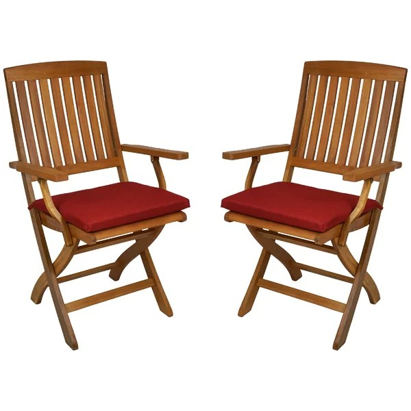 folding chair with cushion office decorating contest ideas blazing needles indoor outdoor patio reviews wayfair