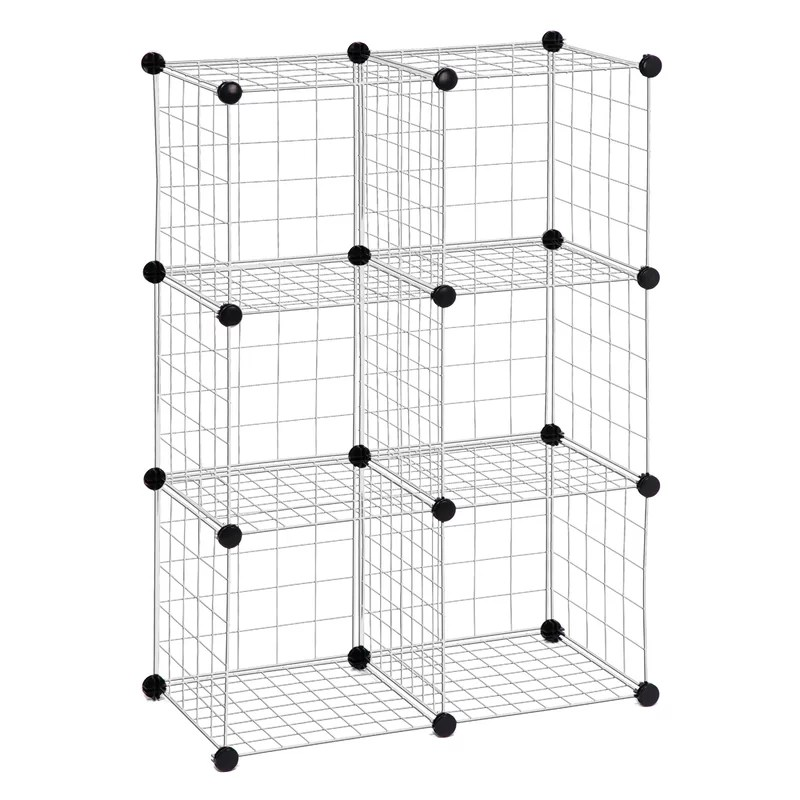 Honey Can Do Modular Mesh Storage Cube Shelving Unit