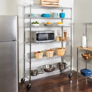 kitchen shelving units aid professional 600 find for your wayfair urban 72 h x 48 w unit