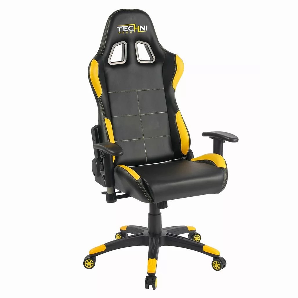 pc game chair tolix yellow techni sport office gaming wayfair