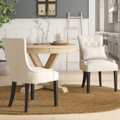 Leather Dining Room Chairs Patio Chair Covers Home Depot Genuine Kitchen You Ll Love Wayfair Grandview Upholstered Side Set Of 2