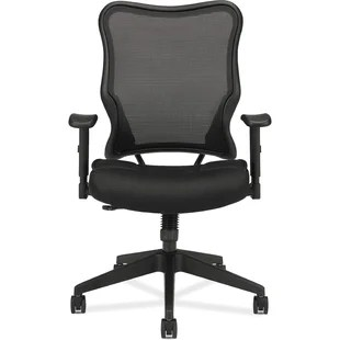 hon desk chairs black plastic chair with wooden legs office you ll love wayfair olson stacker series ergonomic mesh task by