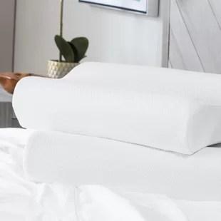 coussin de lit standard contour classic ensemble de 2