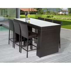 Outdoor Bar Table And Chairs Amazon Hanging Chair 3 Piece Set Wayfair Napa 7