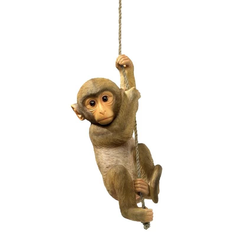 Design Toscano Chico the Chimpanzee Hanging Baby Monkey