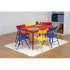 Kids Chair Set Old Wood Chairs Table And You Ll Love Wayfair Adrian 7 Piece Rectangular