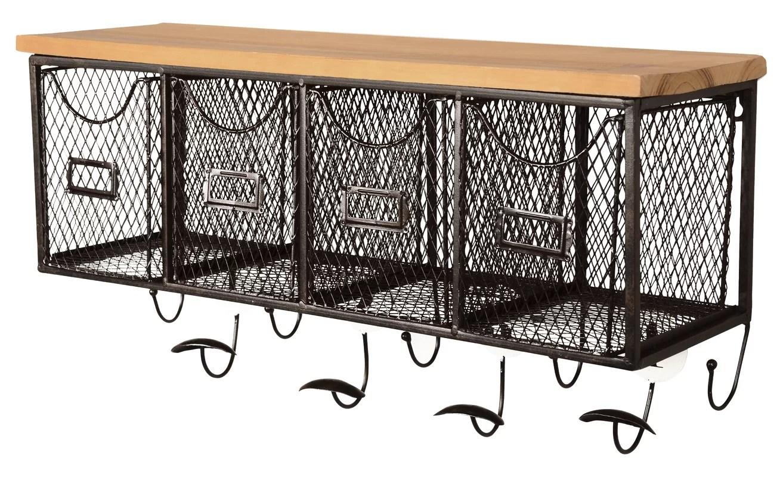 wall mounted chair rack high argos ireland laurel foundry modern farmhouse 4 basket organizer