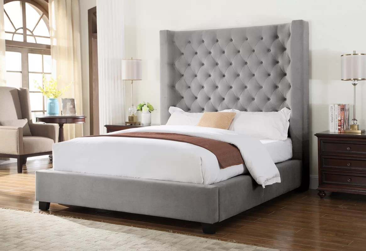 BestMasterFurniture Upholstered Panel Bed & Reviews