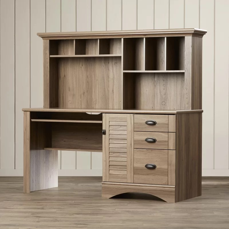 Beachcrest Home Pinellas Computer Desk with Hutch