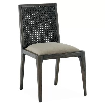 gray rattan dining chairs chair rail accessories wicker perigold messina