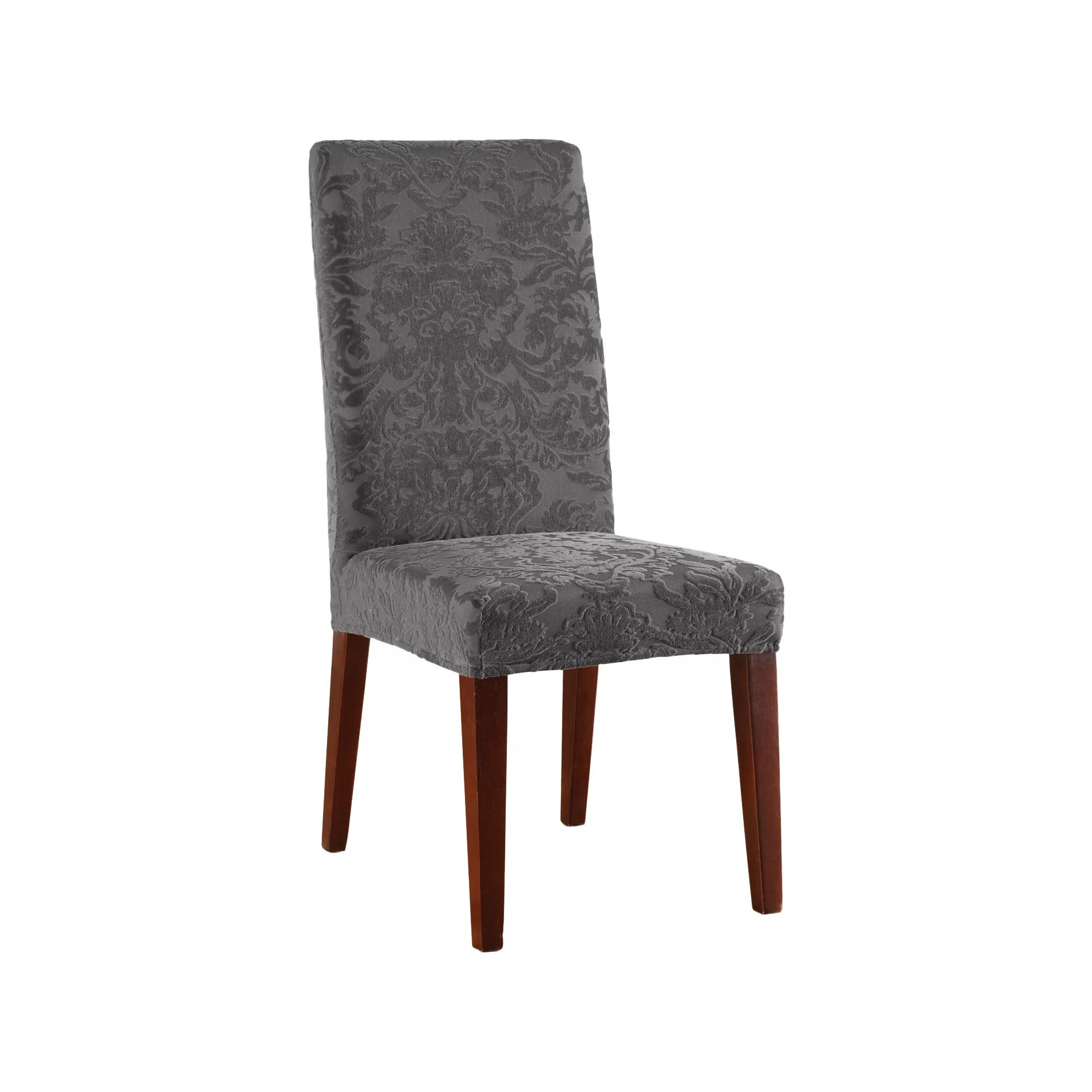 Damask Dining Chair Stretch Jacquard Damask Dining Chair Slipcover