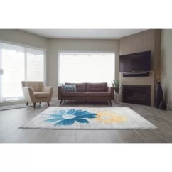 Yellow Living Room Rugs Pictures For Wall Gold You Ll Love Wayfair Ca Criddle Flower Teal Area Rug