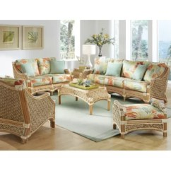 Wicker Living Room Sets Home Decor Small Indoor Wayfair Schmitz 6 Piece Set