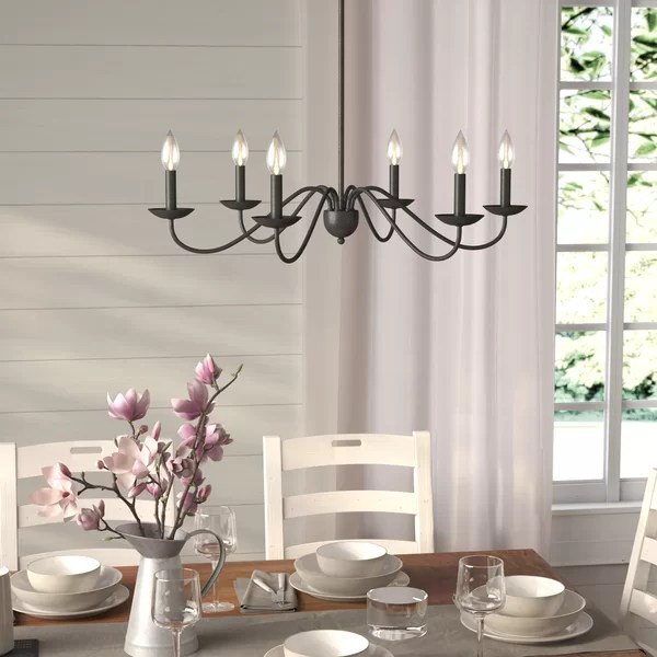 Fixer Upper Outdoor Lighting Gracie Oaks Farell 6-light Candle Style Chandelier