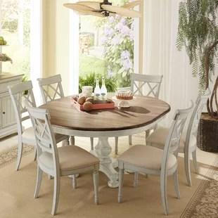 round kitchen table for 6 furniture dining sets birch lane allgood 7 piece set