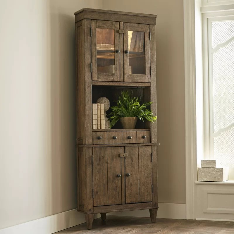 Birch Lane Derrickson Corner Cabinet  Reviews  Wayfair