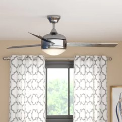 Kitchen Ceiling Fans Cabinet Ideas For Kitchens Fan With Light Wayfair 48 Dennis 3 Blade
