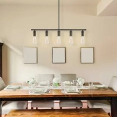 Kitchen Island Lighting Black And White Table Chromeo 5 Light Pendant