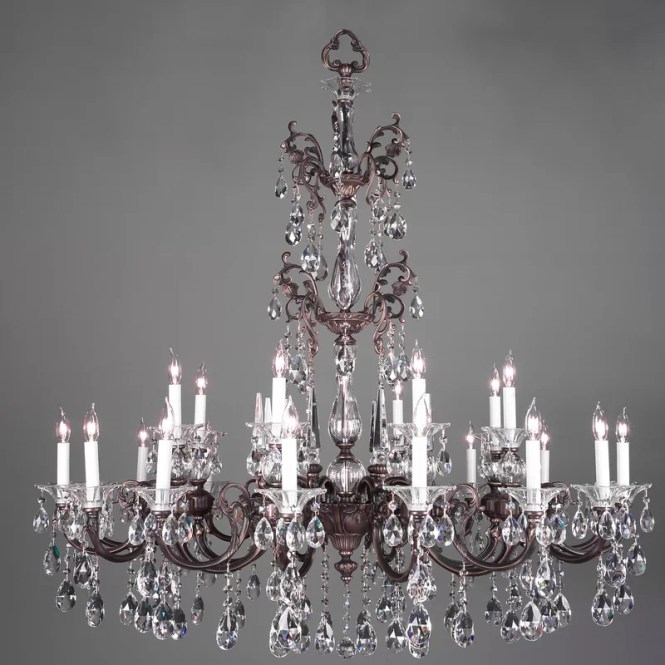 Via Lombardi 24 Light Crystal Chandelier