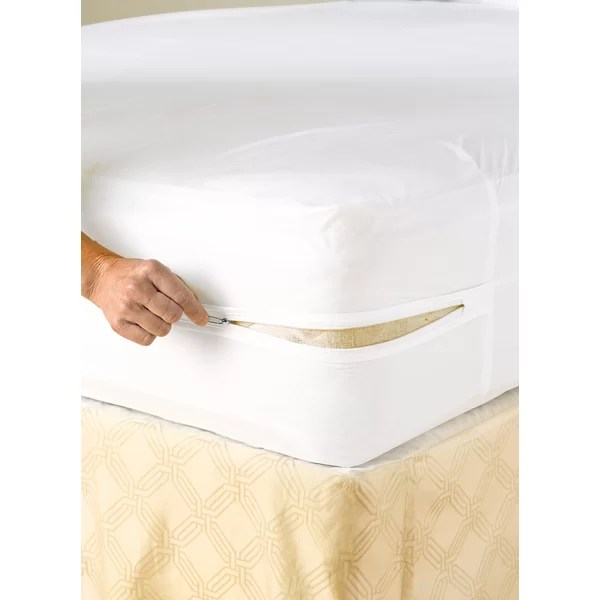 Lcm Home Fashions Inc Vinyl Zippered Hypoallergenic Waterproof Mattress Protector Reviews Wayfair