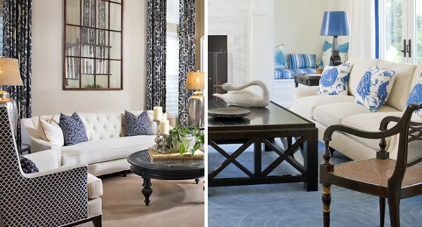 white and blue living room How to Decorate a Blue and White Living Room | Wayfair