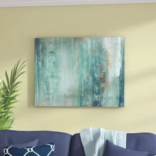 artwork for living room walls rooms decorating ideas wall art you ll love wayfair abstract spa graphic print on wrapped canvas