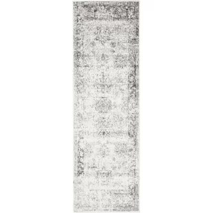 kitchen runner rugs stainless steel cart with drawers modern allmodern brandt gray area rug