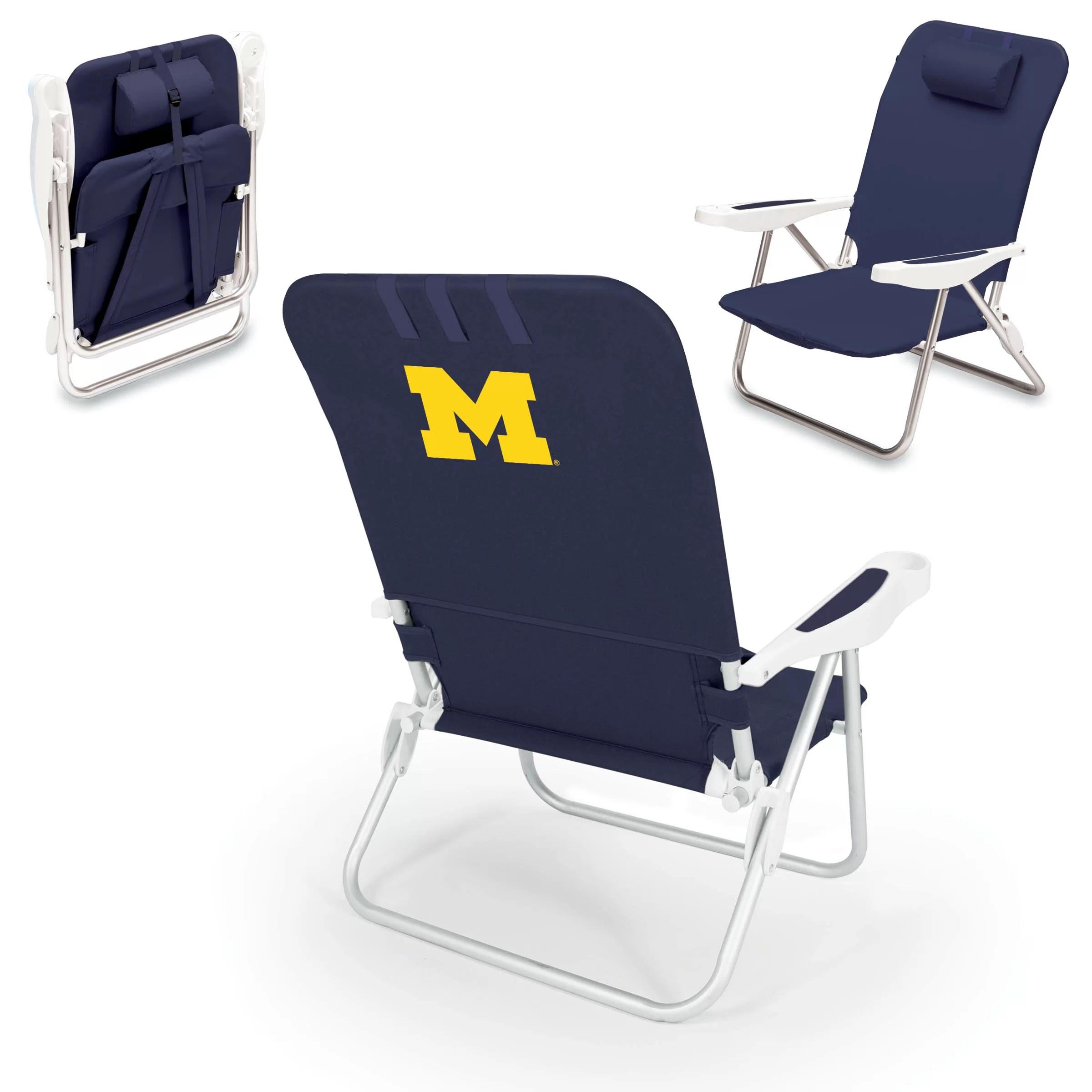 backpack chairs skull chair for sale oniva ncaa monaco reclining beach wayfair