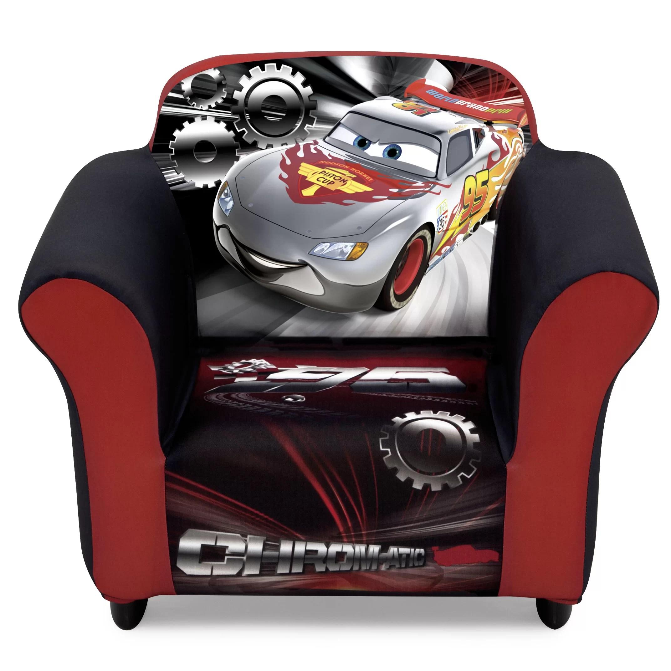childrens upholstered chairs lawn chair repair delta children disney pixar cars kids club wayfair